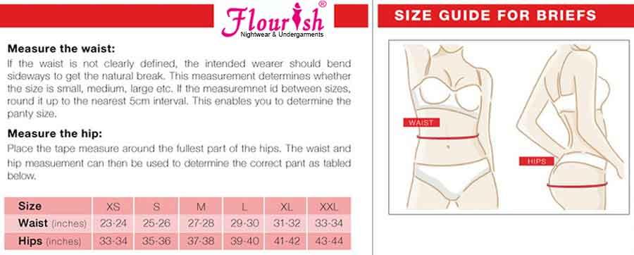 Flourish Panty Size Chart